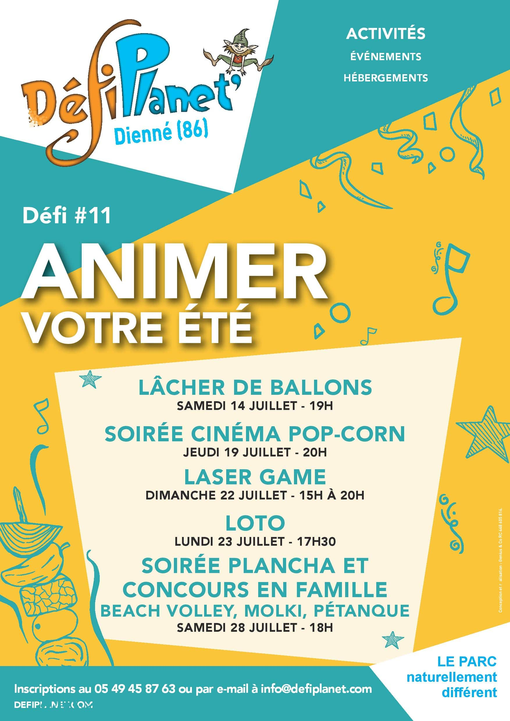 Affiche animations Juillet